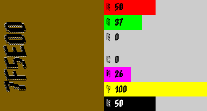Hex color #7f5e00 - poop