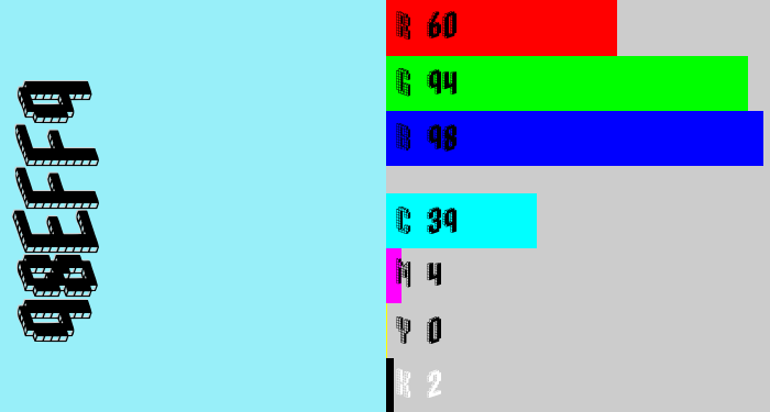 Hex color #98eff9 - robin's egg blue