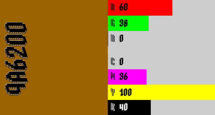 Hex color #9a6200 - raw sienna