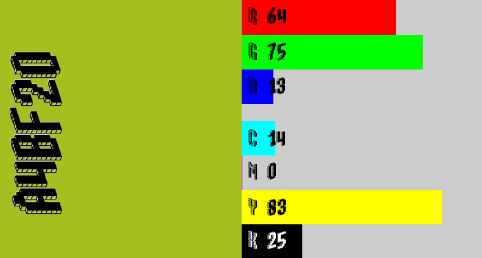 Hex color #a4bf20 - pea