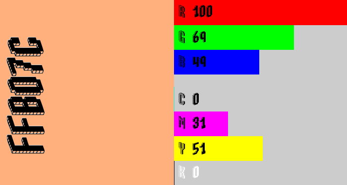 Hex color #ffb07c - peach